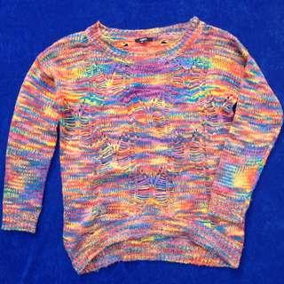Colourful Chunk Knit Jumper