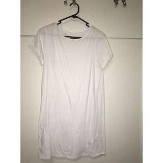 White Nude Lucy Teeshirt Dress