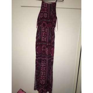Maxi Dress. 2 Long Thigh High Splits