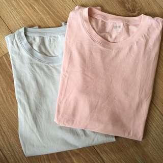 uniqlo t shirt(嬰兒粉藍)