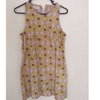 Millie Hall Pink Avocado Print Dress