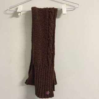 Mimco Dark Brown Cabled Scarf