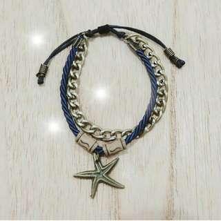 Gelang Starfish Rantai - Navy