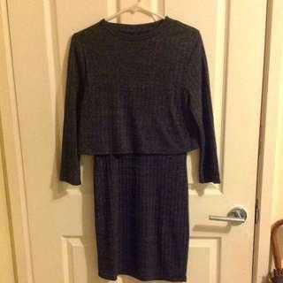 3 Quarter Grey Dress
