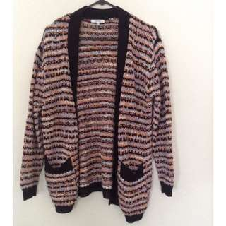 Pink and Orange Oversized Sparkly Cardi
