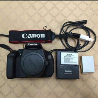 Canon 600d with 18-55 mm & 55-250mm lense stm