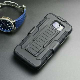 Military Grade Rugged Shockproof Phone Case Cover Protector With Kickstand And Holster