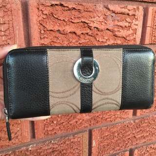 Oroton Signature Zip Around Wallet
