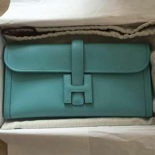 JIGE Élan, Blue Atol, Swift Leather