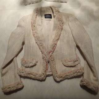 Light Pink/Cream Jacket/Size XS