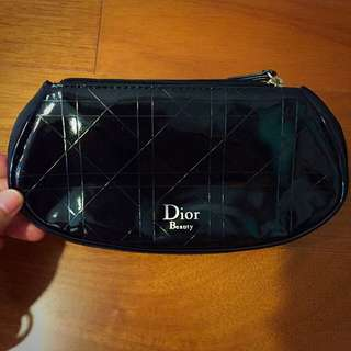 Dior 化妝包 深藍色 小包