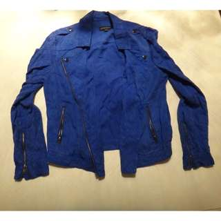Blue Light-Weight Jacket/Size 10