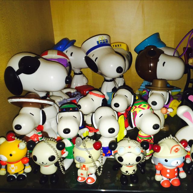 史努力、辛普森家族、麥當勞玩具、7-11熊