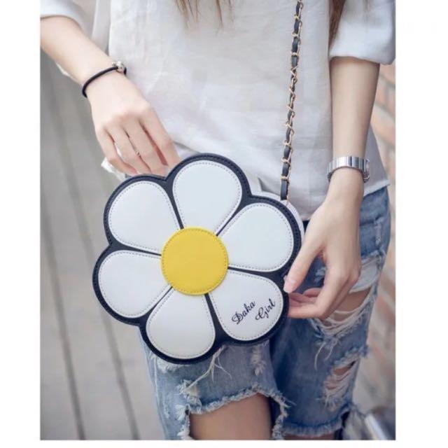夏日🌼花花 立體 側背包