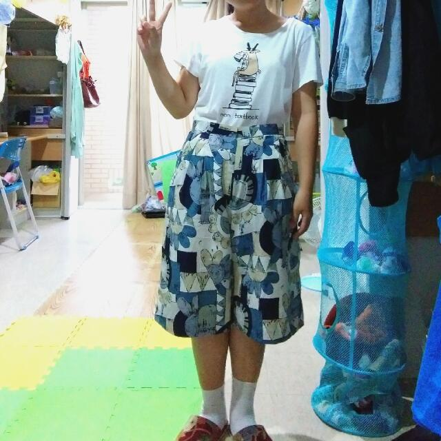 日本 古著 五分 寬褲