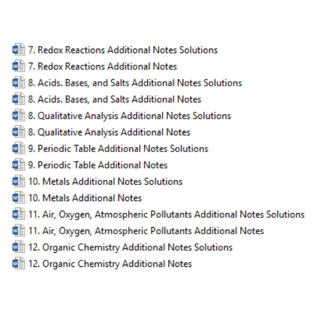 chemistry notes digital copy of pure chemistry notes for o chemistry notes digital copy of pure chemistry notes for o levels revision books stationery textbooks on carousell urtaz Gallery