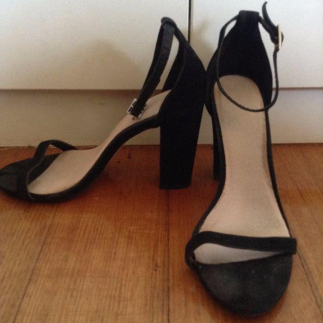 Asos Black Ankle Strap Heels
