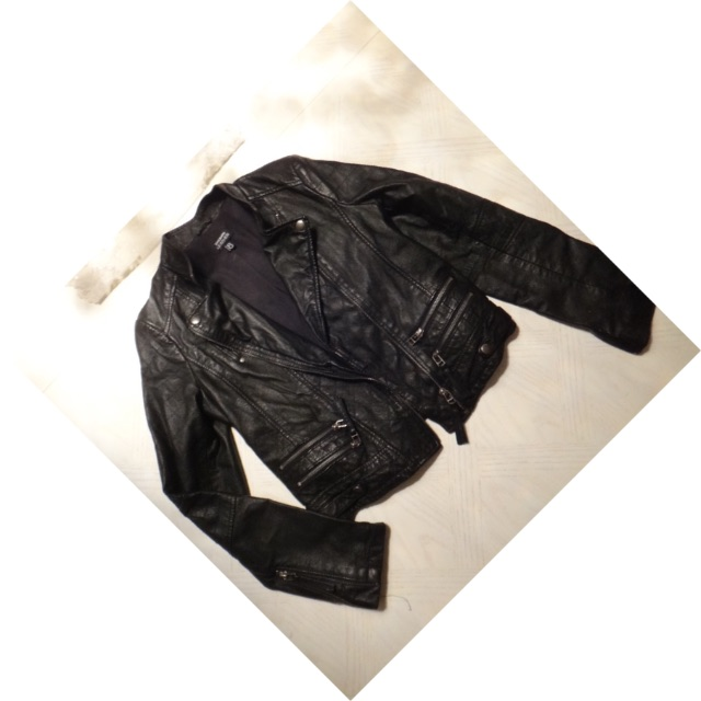 Black Leather Jacket/Size 8