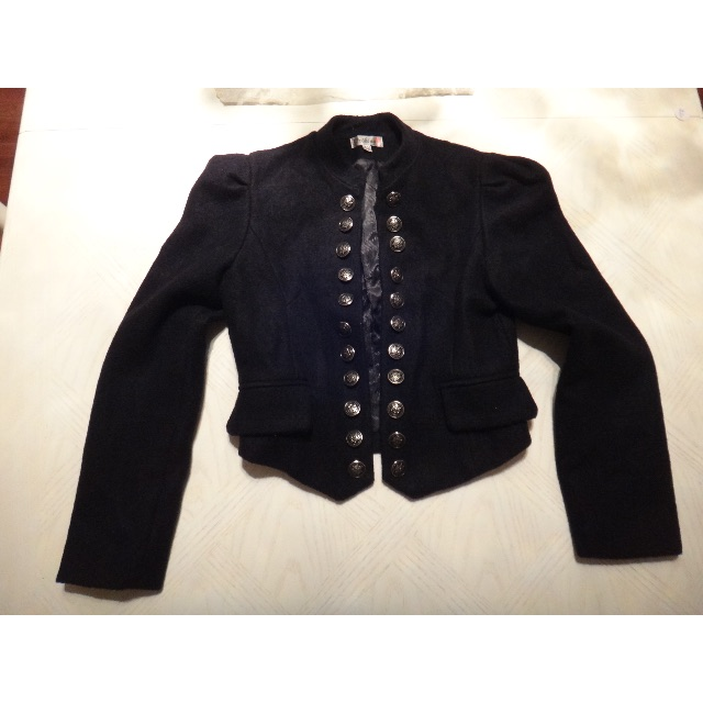 Black Military Jacket/Size S/M