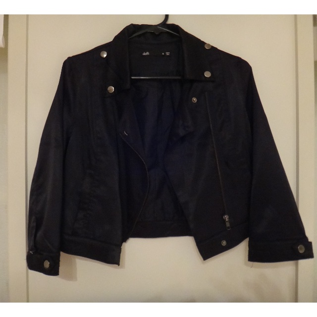 Black Saturn Jacket/Size 10