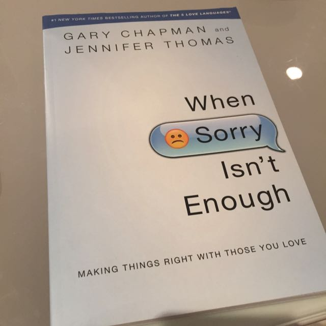 Book: When sorry Isn't Enough