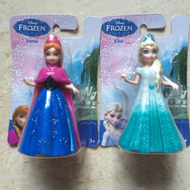 Reserved) Brand New Elsa And Anna Magiclip Dolls, Babies