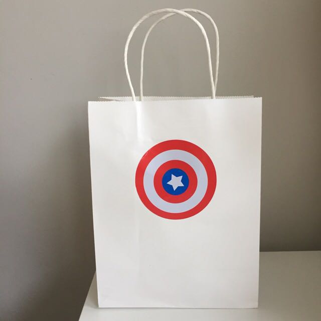 Captain America Paper Bag/ Goodie Bag
