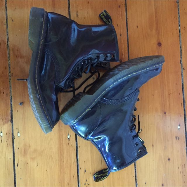 Dr Marten Patent Leather Boots