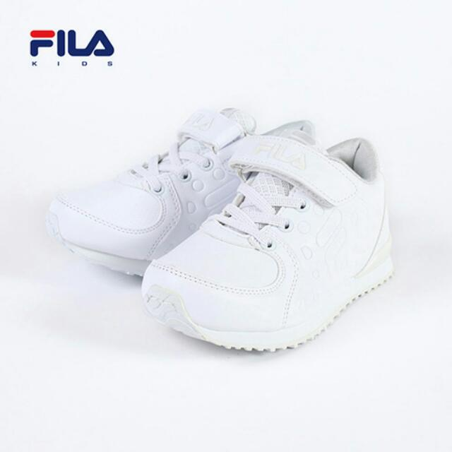 (免運)FILA 經典 全白 魔鬼氈 復古 慢跑鞋 運動鞋 女鞋 日韓