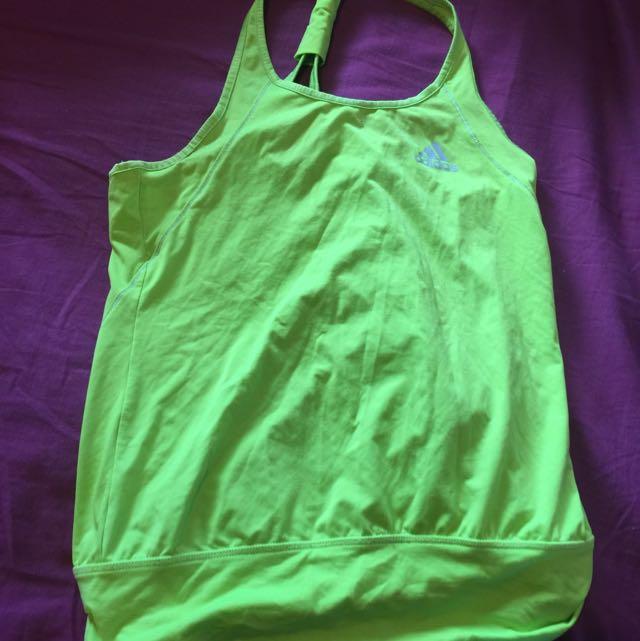 Fluro Lime Green Adidas Tank