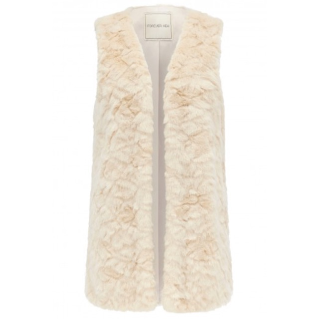 Forever New Gemma long line faux fur gilet
