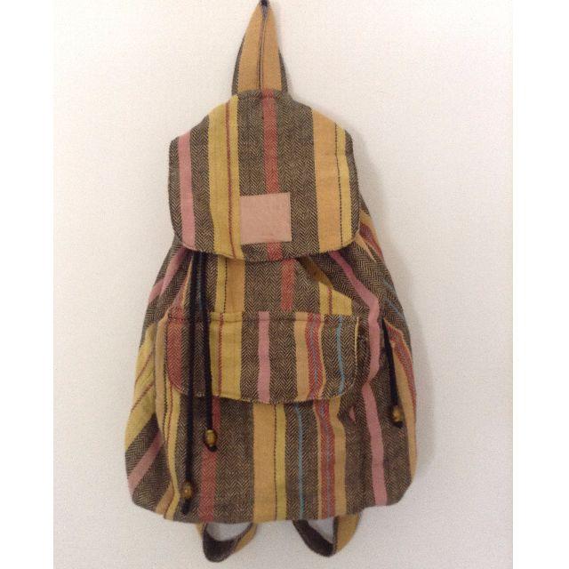 Indian Drawstring Hippie/Boho Backpack