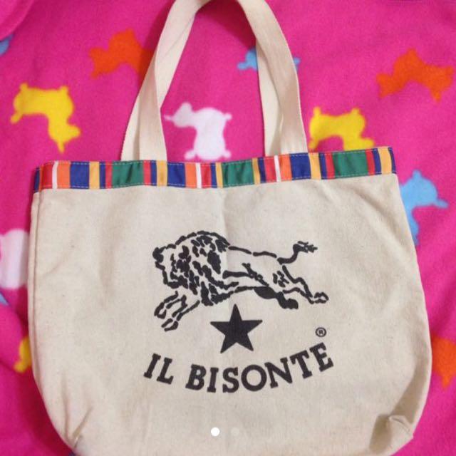 IL BISONTE 義大利名牌 經典帆布提袋