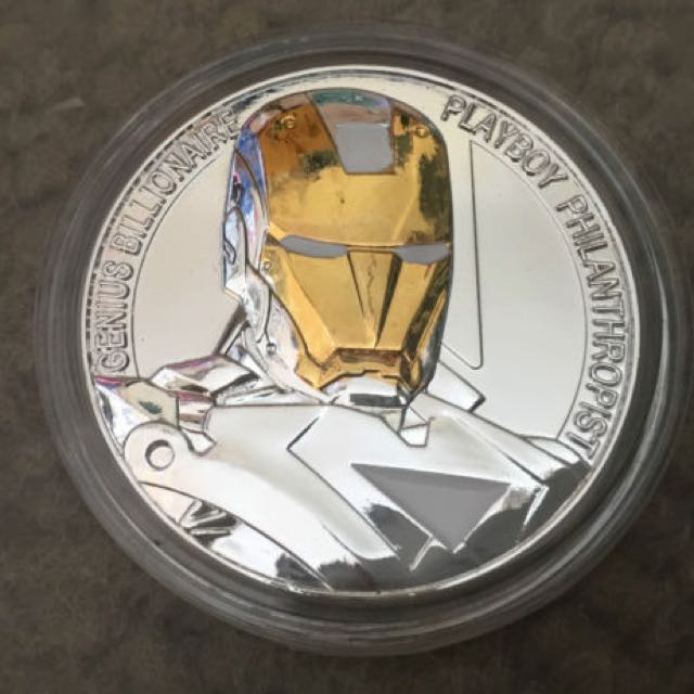 Iron Man White Gold Coin