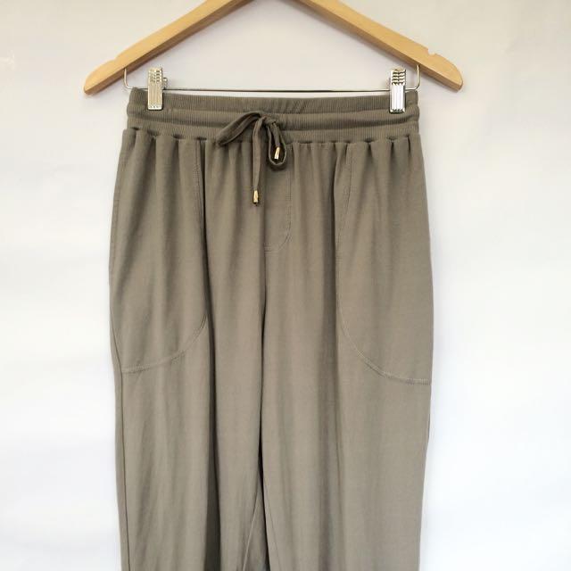 Khaki Track Pants