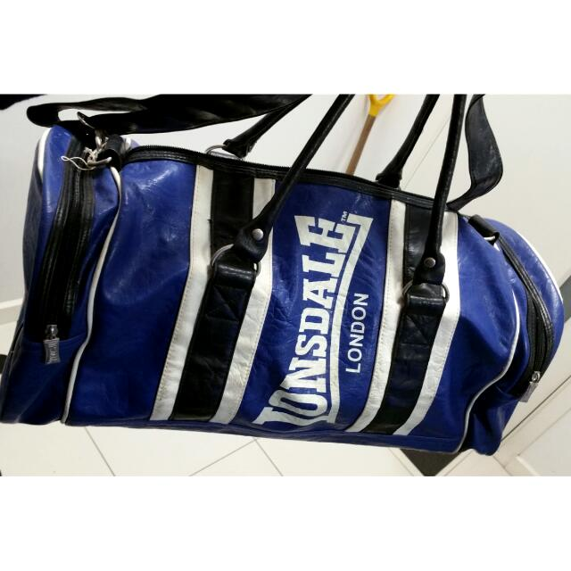 Leather Lonsdale Sports/ Travel Bag