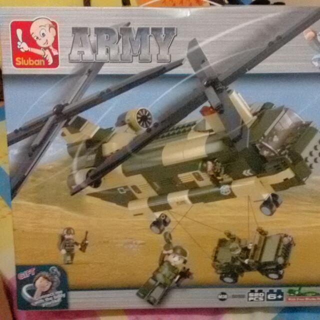 Lego in Army by SLUBAN (525pcs)