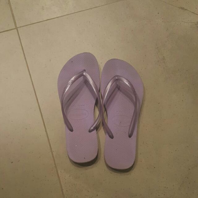 Light Lilac Havaianas Size 37-38 (7-8) Slim Strap