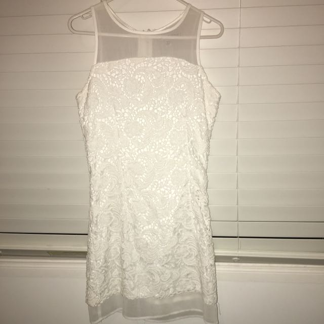 Lulu & Rose White Mesh Dress
