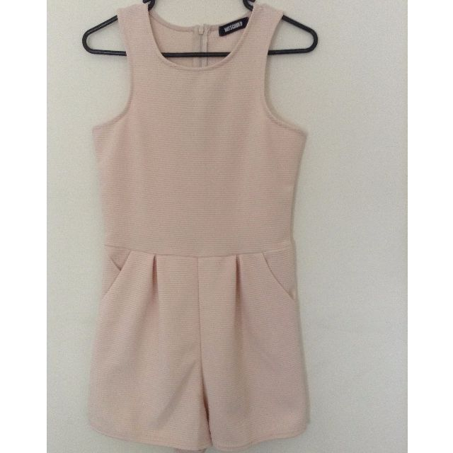 Missguided Nude/Pink Playsuit