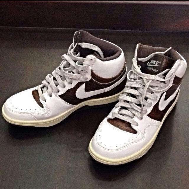 Nike Court Force Hi (white/brown) US Sz 9 Used