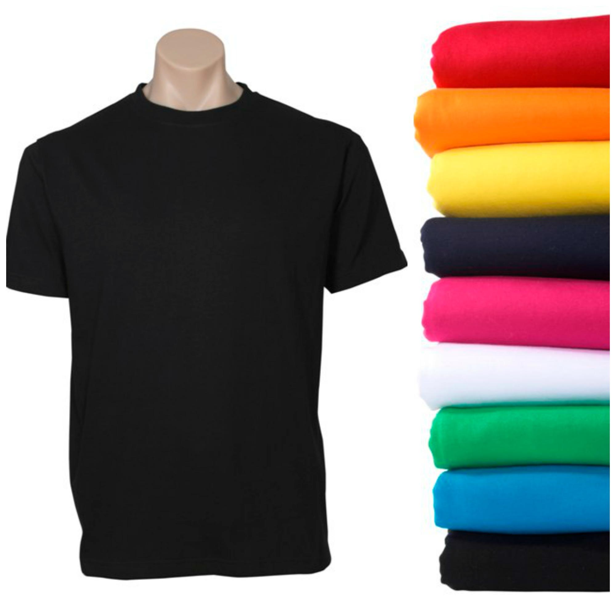 Plain T Shirt 100% COTTON Basic Blank Tee Men's Ladies Casual BULK XS-5XL Adults