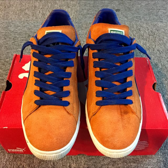 sale retailer a4e18 8c072 Puma Suede Orange Blue