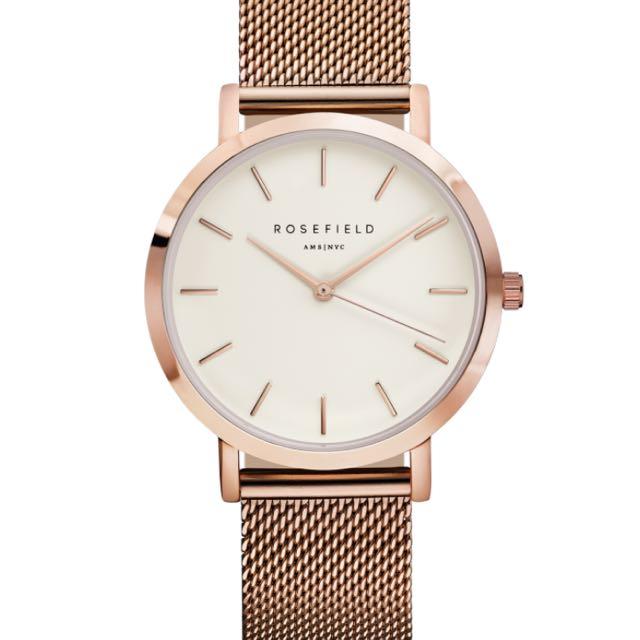Rosefield Mercer Watch Rose Gold