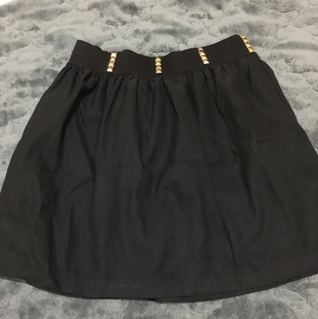 Studded Black Skirt