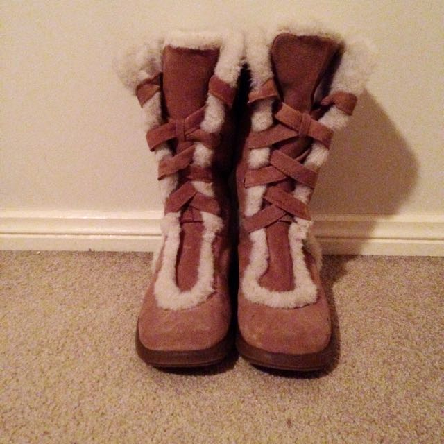 Tan Lace Up Ugg Boot