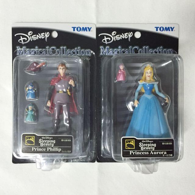 🚫TOMY Magical Collection 迪士尼 稀有藍禮服奧蘿拉 菲利浦王子 絕版 吊卡 公仔 玩偶