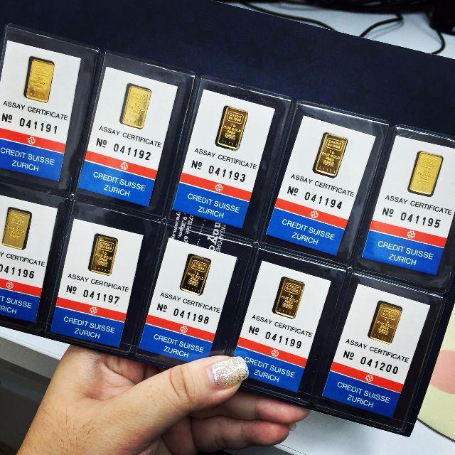 Uncut Credit Suisse Gold Bar