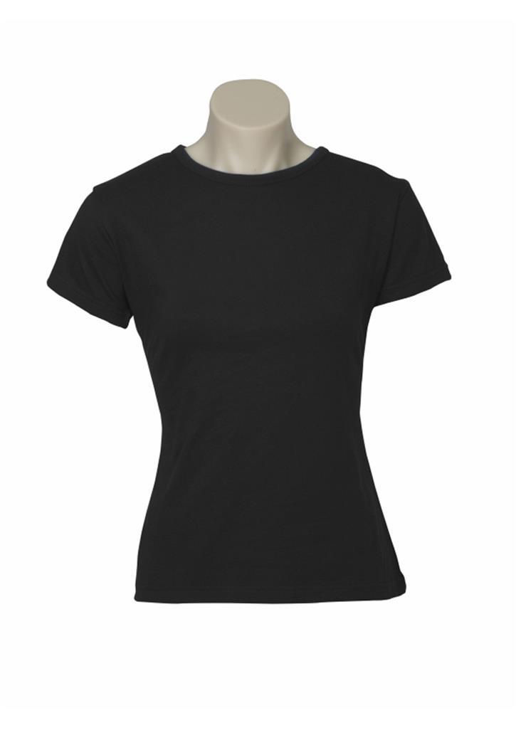 Women's Plain Ladies T SHIRT 100% COTTON Basic Tee Casual Top Size 6-24 BULK New