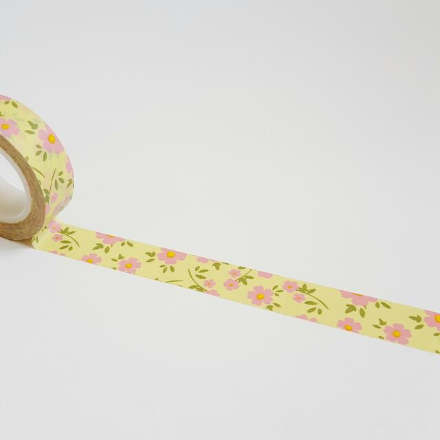 Lemonypink Flower Washi Tape Roll